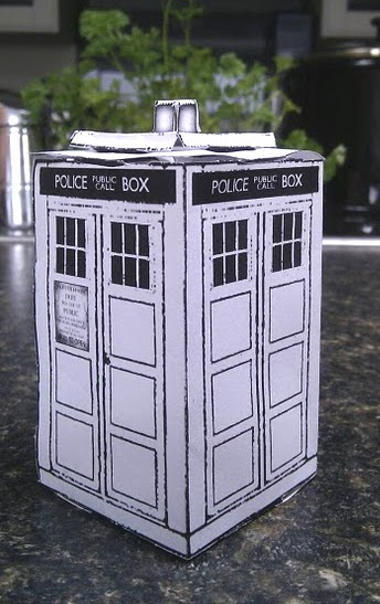 picture regarding Tardis Printable identified as Do it yourself paper or card 3D Tardis printable